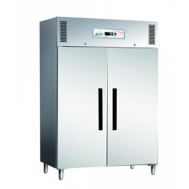 ARMADIO REFRIGERATO TN ventilato 2 porte interamente in acciaio inox AISI 304 temp.-2/+8°C cap.1200 lt.