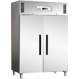ARMADIO REFRIGERATO BT ventilato 2 porte interamente in acciaio inox AISI 304 temp.-18/-22°C cap.1200 lt.