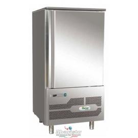 ABBATTITORE DI TEMPERATURA in acciaio inox 18/10 AISI304 +90°/+3°C +90°C/-18°C cap.10 teglie GN1/1-EU60/40