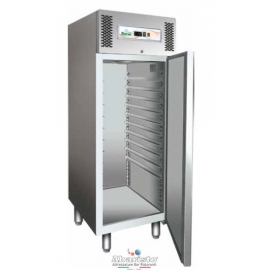 ARMADIO REFRIGERATO PASTICCERIA ventilato 1 porta interamente in acciaio inox 18/10 AISI304 temp.-2/+8°C cap.737 lt.