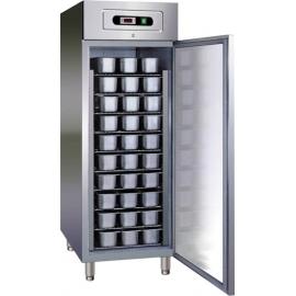 ARMADIO FRIGORIFERO CONGELATORE GELATERIA ventilato 1 porta interamente in acciaio inox 18/10 AISI304 temp.-10/-22°C cap.800 lt.
