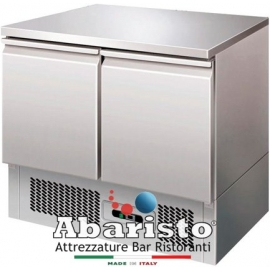 SALADETTE REFRIGERATA TN statica 2 porte interamente in acciaio inox AISI304 temp. +2/+8°C cap. 250 lt.