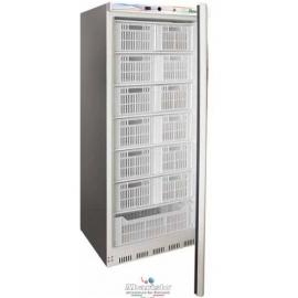 ARMADIO REFRIGERATO CONGELATORE A CASSETTE statico 1 porta con struttura esterna in acciaio inox temp.-18°/-22°C cap.600 lt.