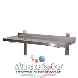 MENSOLA SINGOLA interamente in acciaio inox AISI430 COMPLETA di CREMAGLIERA PROF. 30