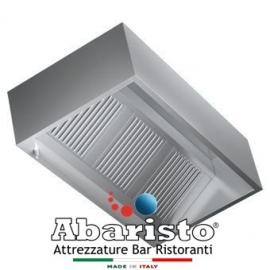 PROF.110: cappa cubica parete in acciaio inox