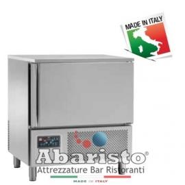 ABBATTITORE DI TEMPERATURA cap.5 teglie GN1/1-EU60/40 in acciaio inox 18/10 AISI304 +90°/+3°C +90°C/-18°C  -PRODOTTO ITALIANO-