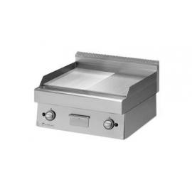 FRY TOP GAS PIASTRA RIGATA CROMATA interamente in acciaio inox AISI304