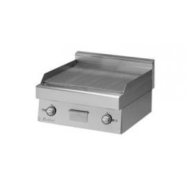 FRY TOP GAS PIASTRA LISCIA PIANA interamente in acciaio inox AISI304 con foro di scarico piastra