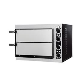 FORNO ELETTRICO PER PIZZA SMALL BASIC 2/40 2 CAMERE interamente in acciaio inox
