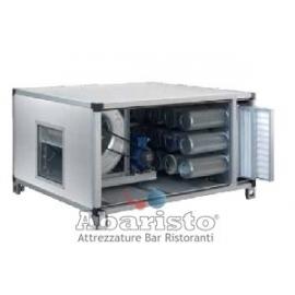 Centralina a carboni attivi a 9 filtri con ventilatore trasmissione a cinghia trifase portata 3000 m3h - 20 HST
