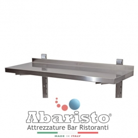 MENSOLA SINGOLA interamente in acciaio inox AISI430 COMPLETA di CREMAGLIERA PROF. 40