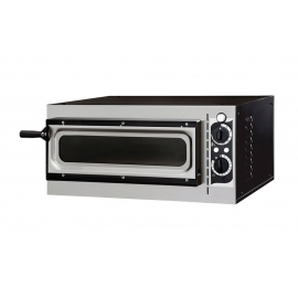 FORNO ELETTRICO PER PIZZA SMALL BASIC 1/40 GLASS & LIGHT 1 CAMERA interamente in acciaio inox