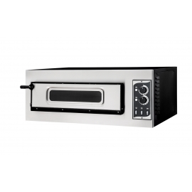FORNO ELETTRICO PER PIZZA SMALL BASIC 1/50 GLASS & LIGHT 1 CAMERA interamente in acciaio inox