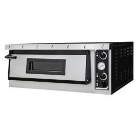 FORNO ELETTRICO PER PIZZA PLUS XL 4 1 CAMERA interamente in acciaio inox