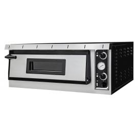 FORNO ELETTRICO PER PIZZA PLUS XL 6 1 CAMERA interamente in acciaio inox