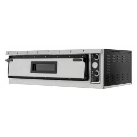 FORNO ELETTRICO PER PIZZA PLUS XL 9 1 CAMERA interamente in acciaio inox