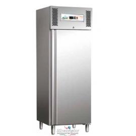 ARMADIO REFRIGERATO statico 1 porta interamente in acciaio inox 18/10 AISI304 temp.+2/+8°C cap.429 lt.