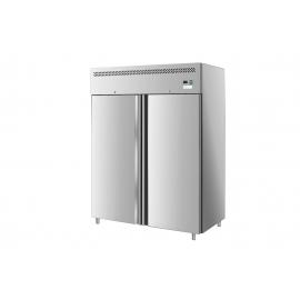 ARMADIO REFRIGERATO TN ventilato 2 porte interamente in acciaio inox AISI 304 temp.-2/+8°C cap.1400 lt.