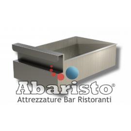 CASSETTO SINGOLO in acciaio inox per tavoli profondità 70 cm. (in acciaio inox AISI 304)