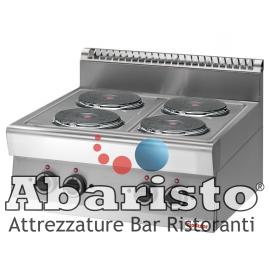 PIANO COTTURA ELETTRICO 4 PIASTRE interamente in acciaio inox AISI304