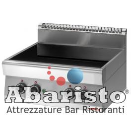 CUCINA ELETTRICA AD INDUZIONE 4 ZONE interamente in acciaio inox AISI304 TOP
