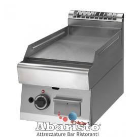 FRY TOP GAS PIASTRA LISCIA interamente in acciaio inox AISI304 TOP