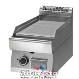 FRY TOP ELETTRICO PIASTRA LISCIA CROMATA interamente in acciaio inox AISI304 TOP