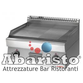 FRY TOP ELETTRICO PIASTRA RIGATA interamente in acciaio inox AISI304 TOP