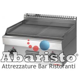 FRY TOP ELETTRICO PIASTRA RIGATA interamente in acciaio inox AISI304