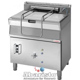 BRASIERE RIBALTABILE GAS Vasca di cottura in acciaio inox con fondo in acciaio AISI 304.